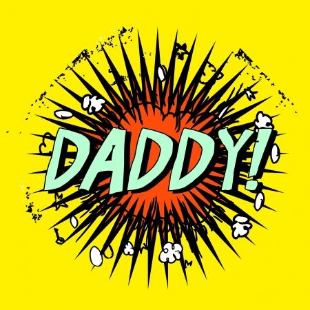 apa: daddy apa apja boom Illusztráció