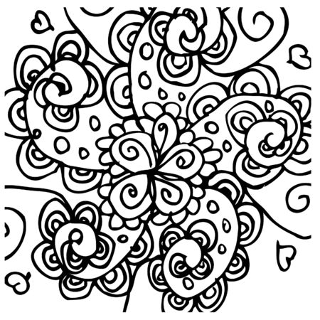 vector flower tattoo background  Vector