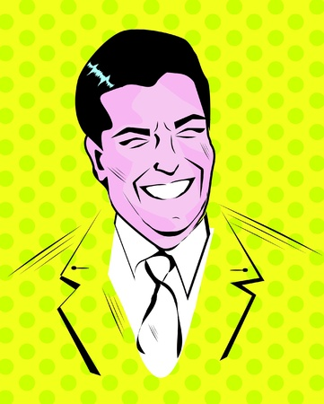 Nice Young Man - Retro Clipart Illustration  Illustration
