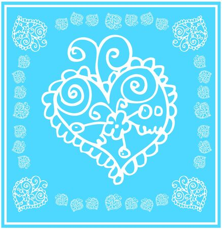 floral heart card flower and love icon Postcard with heart and flowers Stock Vector - 15771020