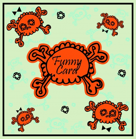 Very cute Skull with bow on background with place for copy/text  Vector