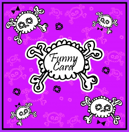 Very cute Skull with bow on background with place for copy/text Stock Vector - 15770994