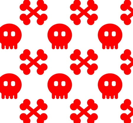 Seamless from skull  can be repeated and scaled in any size  Pattern Stock Vector - 15770817