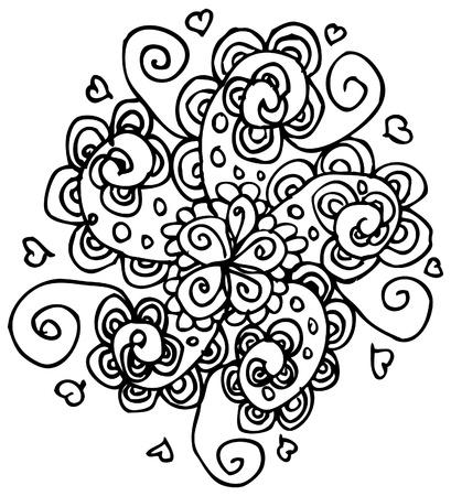 flower tattoo background Stock Photo - 18452649