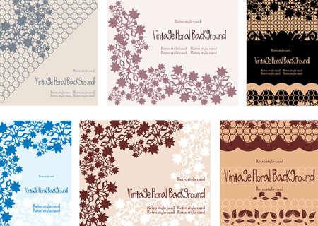 set of vintage floral backgrounds Stock Photo - 18452650