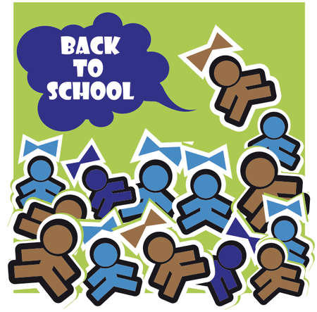 back to school vector background  photo