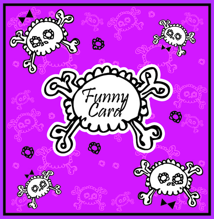 Very cute Skull with bow on background with place for copytext  photo