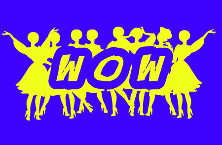 Wow - Advertising Headline - Retro Clip Art  popart comic collection photo
