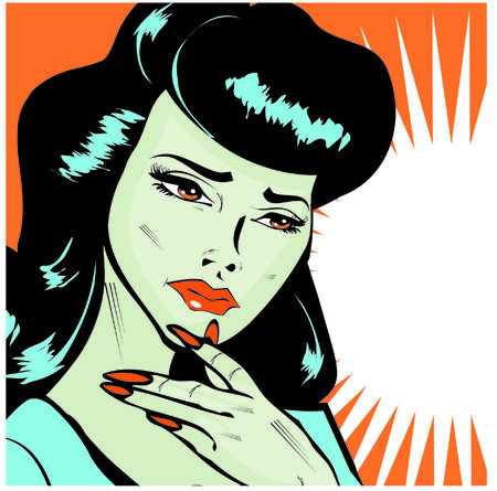 Maybe, Maybe Not - Lady Trying To Make A Decision popart collection Stock Photo - 26498455