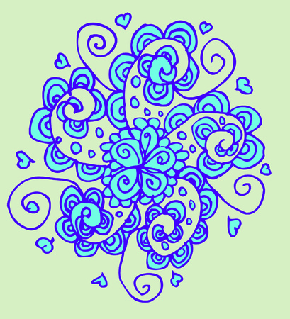 vector flower tattoo background  photo