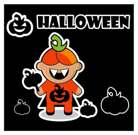 Halloween icon Pumpkin  dracula card poster background photo