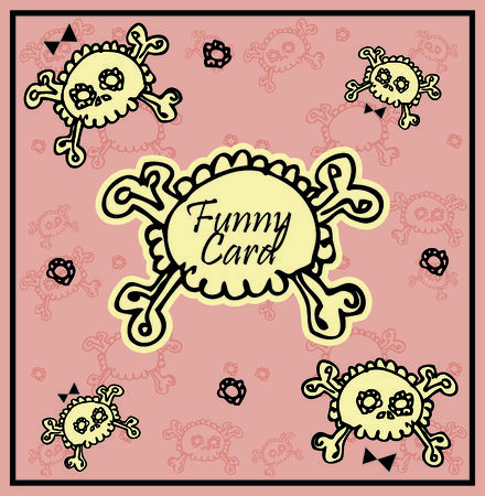 Very cute Skull with bow on background with place for copytext