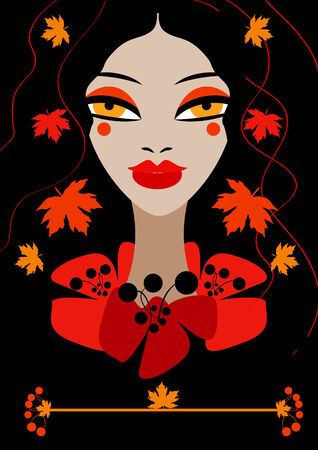 Autumn woman girl Stock Photo