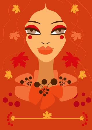 Autumn woman girl Stock Photo