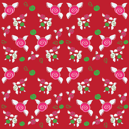 scrap booking: Chic Rose Patterns seamless fabric and paper backgrounds, scrap booking