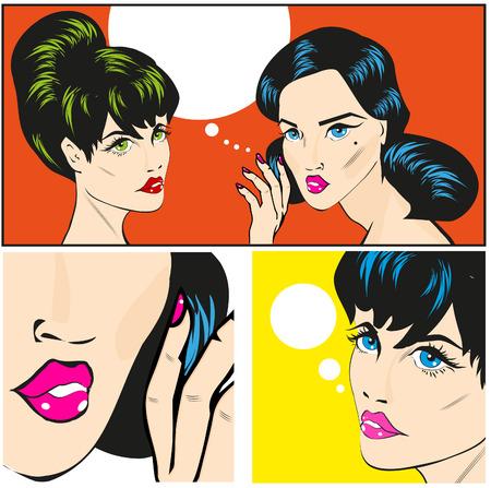 telling: Woman telling woman some secrets  Female secrets Stock Photo