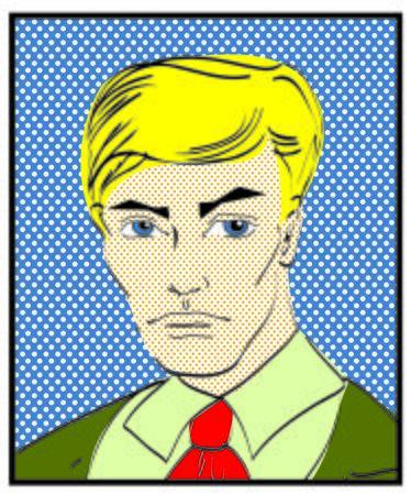 retro styled imagery: Retro Popart man portrait Retro Popart man portrait