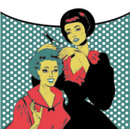 retro woman: Vintage retro woman Hairdressing - Retro poster