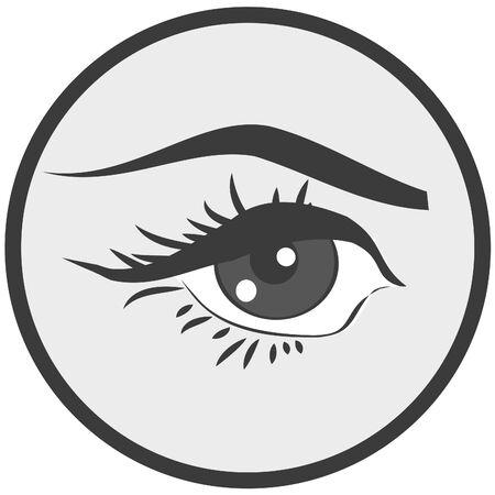 eye icon: Pop Art Pin Up Eye Icon
