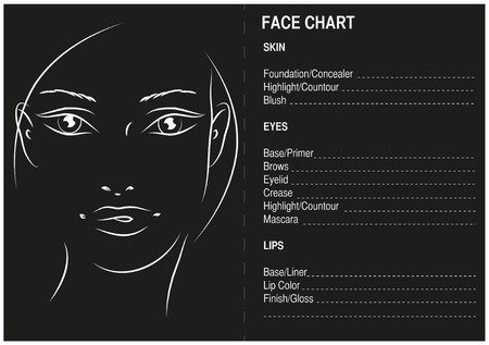 Face chart Makeup Artis Blank Face Charts