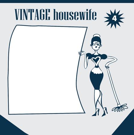 homemakers: Doodles Vintage Retro Clip Art Woman Advertisement elements  nostalgia girl