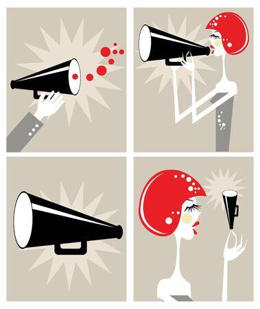 public address: Loudspeaker and megaphone