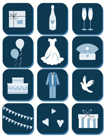 wedding dress back: wedding event web button, emblem set, tag, button, emblem