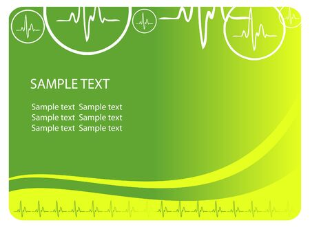 cardiological: cardio blue background with ecg icons and text area. Great for scientific, medical purposes.
