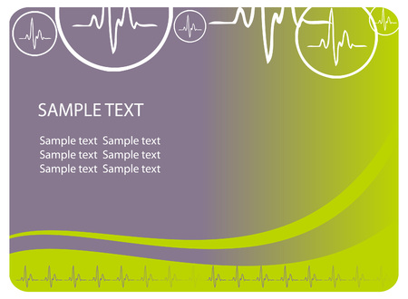text area: Vector cardio blue background with ecg icons and text area. Great for scientific, medical purposes. Stock Photo