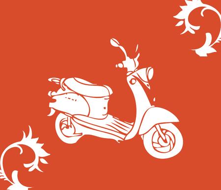 moto: vector moto bike Stock Photo