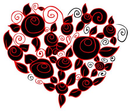 flower heart: flower heart Stock Photo