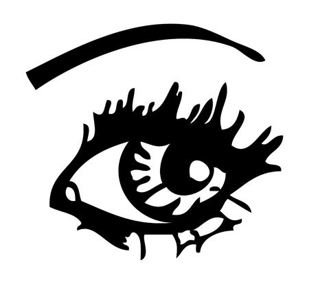 eyes wide open: eye Stock Photo