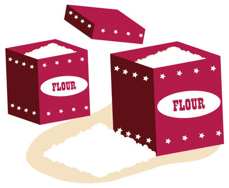 un healthy: Whole flour in box on background love to bake it!