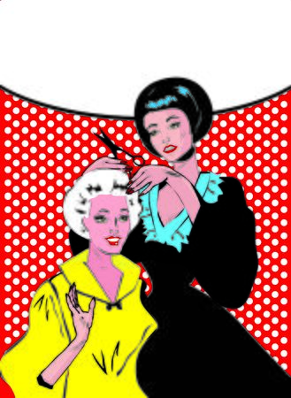 gals: Vintage retro woman Hairdressing - Retro poster