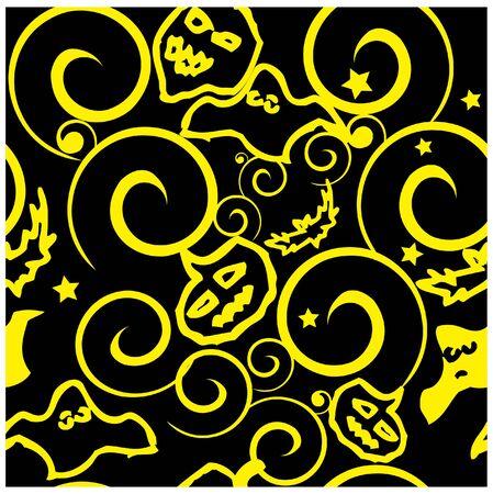 drakula: Halloween background seamless pattern vector illustration