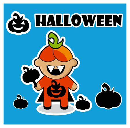 frightful: Halloween icon Pumpkin  dracula card poster background