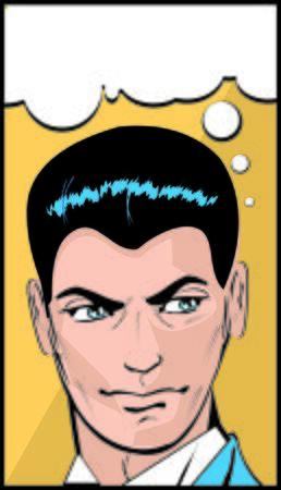 renders: Retro Pop Art Man In Thought