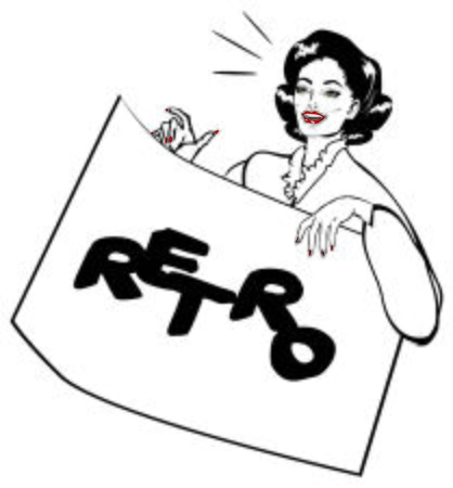 gals: Showcard Girl Vintage Retro Clip Art