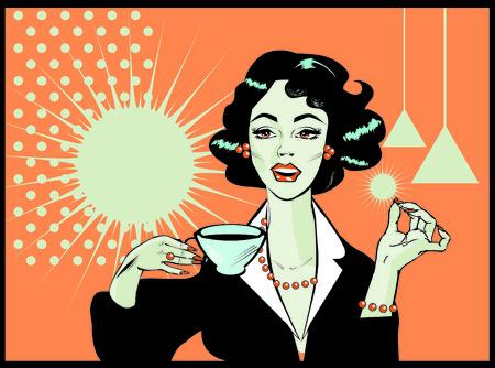 highend: Woman drinking coffee