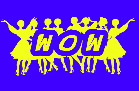 headings: Wow - Advertising Headline - Retro Clip Art  popart comic collection