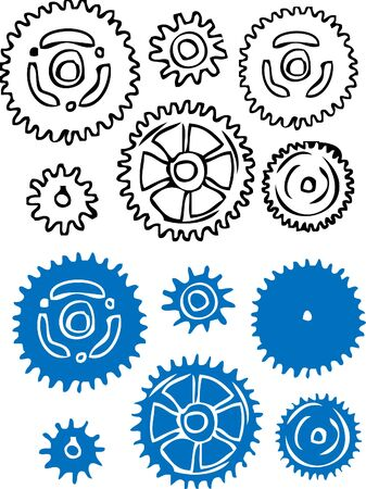 Gears vector element illustration