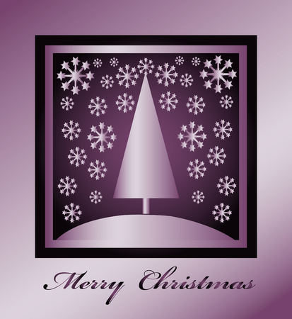 Merry Christmas card, poster, background, label Stock Photo