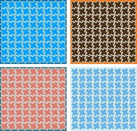out of order: Vector puzzle backgrounds, wallpapers, pattern