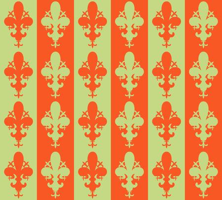 lys: Seamless victorian flower background, wallpaper. Vector Fleur de lys Stock Photo
