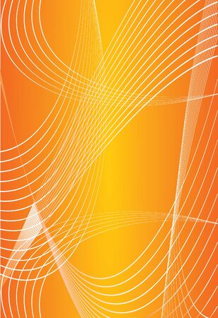 text area: Abstract yellow orange background with vawe lines. Cover, layout with big text area. Great for scientific, purposes, exam
