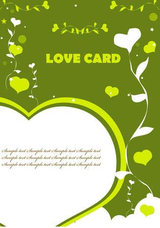 valentin: Love Valentin background eco green color