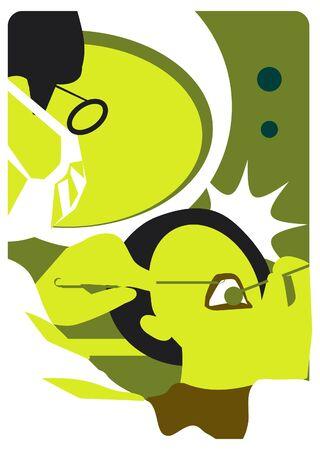 comunicacion oral: emblema m�dico dental de la ilustraci�n Foto de archivo
