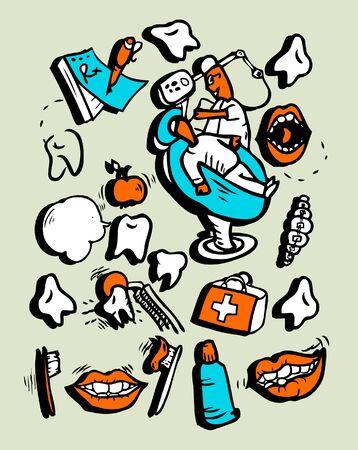 roentgen: Vector doodly style icon set Medicine Part 1