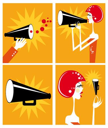 commercial painting: Loudspeaker and megaphone