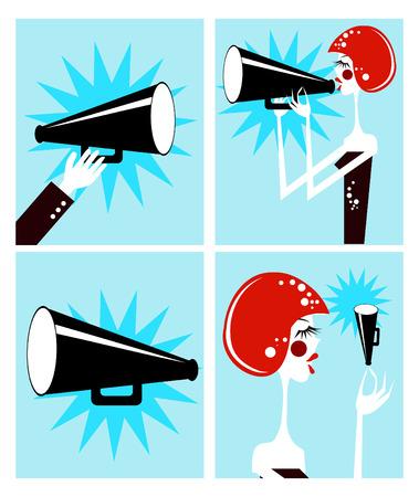 loudspeaker: Loudspeaker and megaphone
